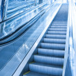 Stock Photo: Moving escalator in airport