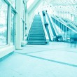 Vanishing transparent hallway — Stock Photo