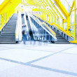Perspective staircase inside yellow corridor - Stock fotografie