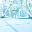 Blue transparent hallway - Stock fotografie
