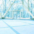 Blue transparent hallway - Stockfoto