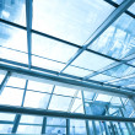 Futuristic architecture inside contemporary business hallway, ai — Stock Photo