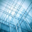Blue texture of glass transparent skyscrapers — Stock Photo #6713412