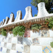 BARCELONA, SPAIN - JULY 25: The famous Park Guell on July 25, 2011 in Barce - Stok fotoraf