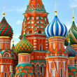 Cathedral of Vasily the Blessed on Red Square Moscow Russia - Stock Photo
