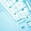 Transparent ceiling inside contemporary airport — Stock Photo #6713654