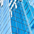 Contemporary design of glass skyscrapers, business background — Stock Photo