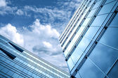 Blue texture of glass high-rise building — Stock Photo