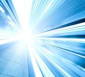 高速移動エスカレーターの広角 — ストック写真