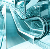 Escalator in Modern Airport — Stock Photo