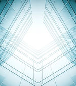 Abstract illustration of glass frame building skyscrapers — Stock Photo