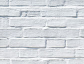 White brick wall texture — Stock Photo