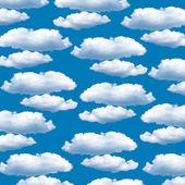 Abstratas nuvens no céu azul — Fotografia Stock