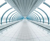 Spacious diminishing transparent hallway — Stock Photo