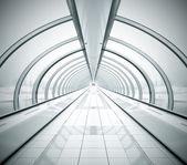 Negro corredor desaparición simétrico con pared doblado — Foto de Stock