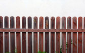 Reddish wooden fence — Stock Photo