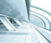 Textured blue ceiling inside airport — Stock Photo