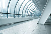Commercial corridor in business center — Stock Photo