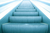 Modern steps of moving business escalator — Stockfoto