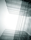 Disappearing luminosity glass office buildings in the morning, w — Stock Photo