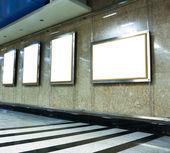 Vit plakat i business hall — Stockfoto