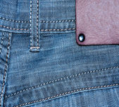Shabby jeans pocket — Stock Photo