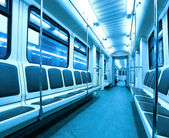 Interior of contemporary fast train — Stock Photo