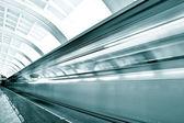 Schnell fahrenden zug von motion — Stockfoto