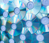 Colorful background of compact discs — Stock Photo