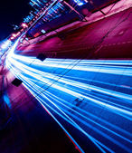 Night motion on urban streets — Stock Photo