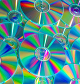 Empty compact colorful discs — Stock Photo