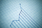 Increase in diagram. Shallow DOF! — Stock Photo