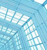 现代屋顶内部办公中心 — 图库照片