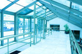 Blue business hall — Stock Photo