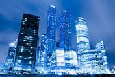 Widok perspektywy do szkła wysokich wieżowców moscow city b — Zdjęcie stockowe