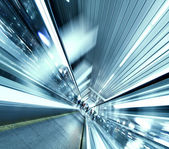 Abstract angle of view to passenger transport — Stock Photo