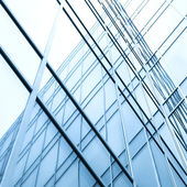 Perspective wall of glass modern building — Stock Photo