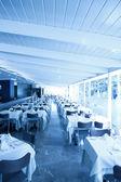 Interior of a modern restaurant — Stock Photo