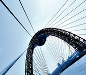 Bridge over blue sky — Stock Photo