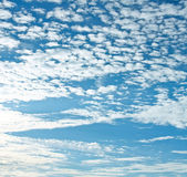 Beautiful blue-sky and sparse white clouds — Stock Photo