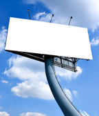 Empty blank billboard — Stock Photo