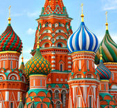 Cathedral of Vasily the Blessed on Red Square Moscow Russia — Stockfoto
