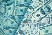 Blue magazine of dollars money — Stock Photo
