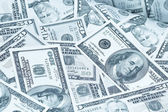 Greenbacks background — Stock Photo
