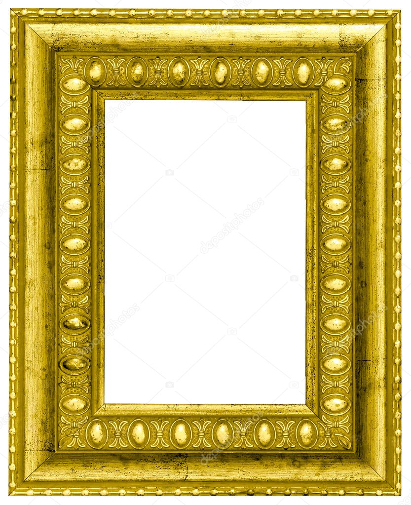 Horizontal vintage wooden frame over white background — Stock Photo #6710757