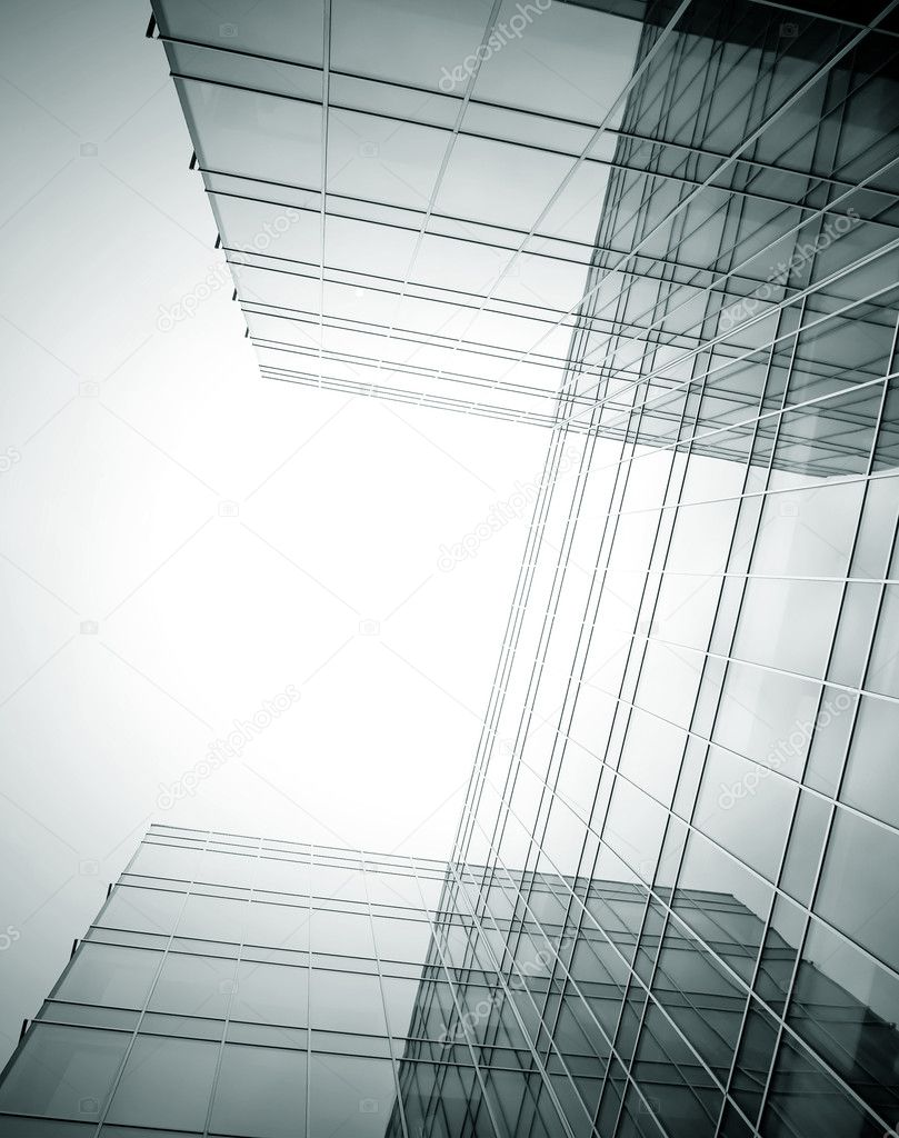 Disappearing Glass Office Buildings In The Morning Wide: Disappearing Luminosity Glass Office Buildings In The