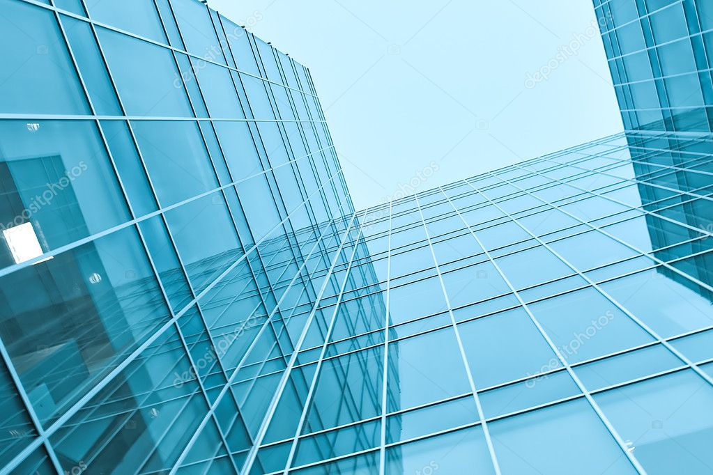 Wide angle view of glass transparent wall  Stock Photo #6712292