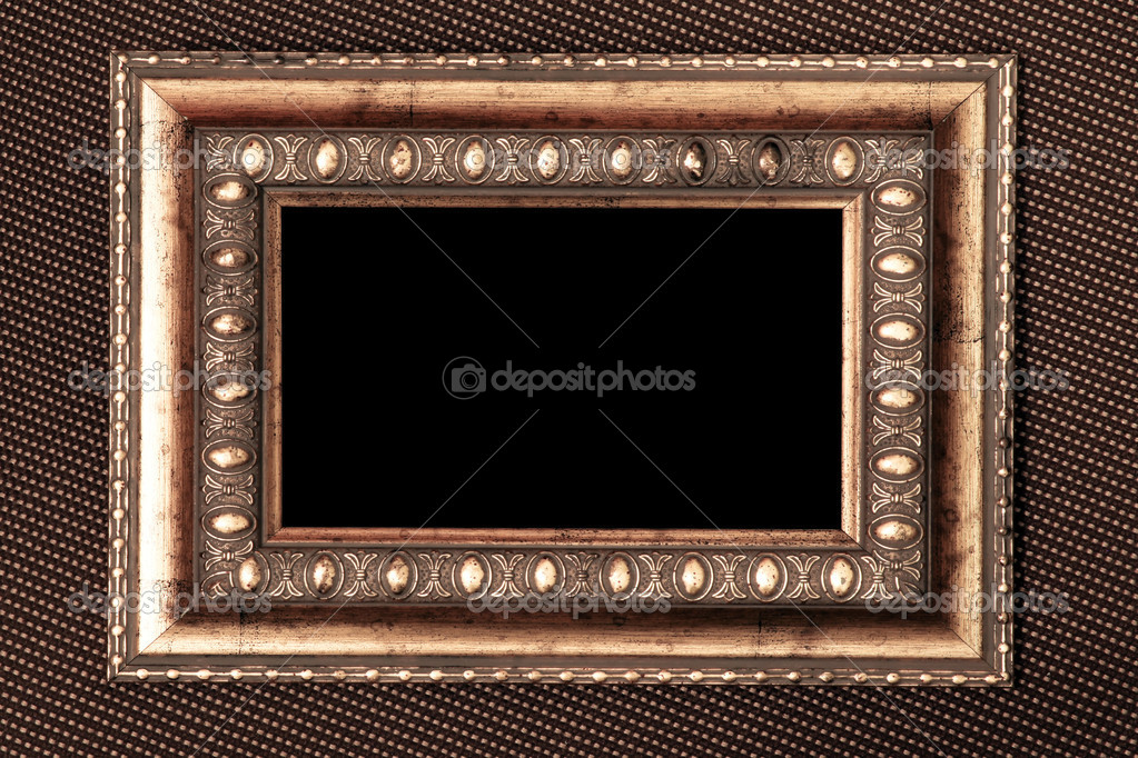 Metal Fabric Texture Vintage Metal Frame Over Fabric Texture Photo by Vladitto