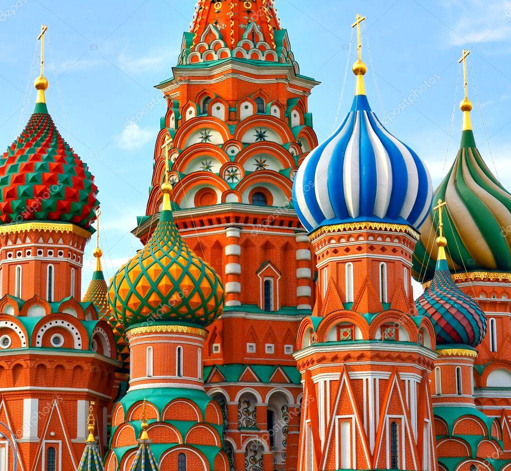 俄罗斯莫斯科红场瓦西里 · 祝福之大教堂