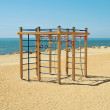 Stock Photo: Children's playground by sea.